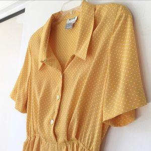 VTG Yellow Polkadot Dress